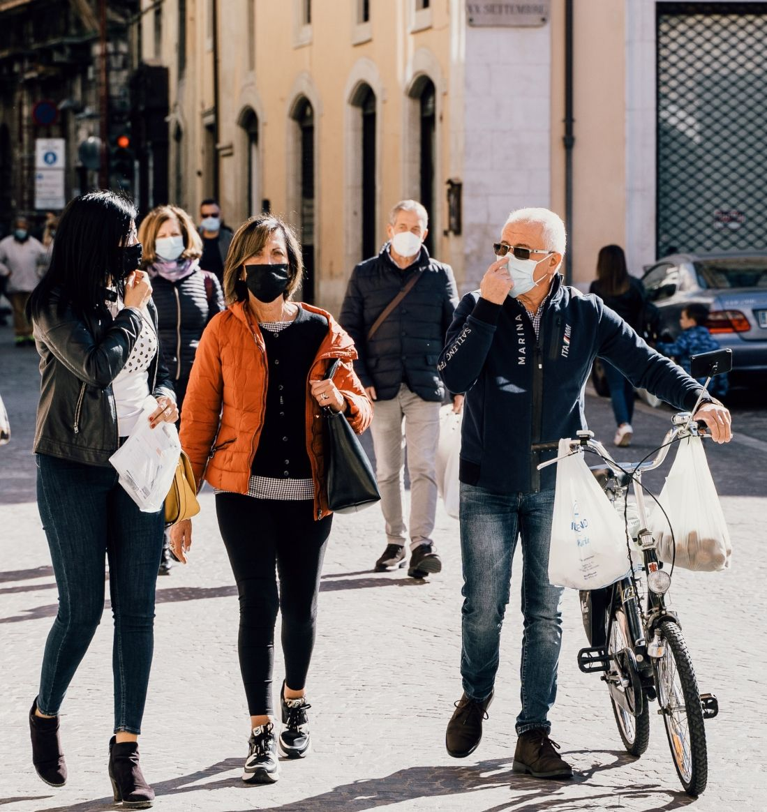 Do I need to wear a face-mask while cycling?
