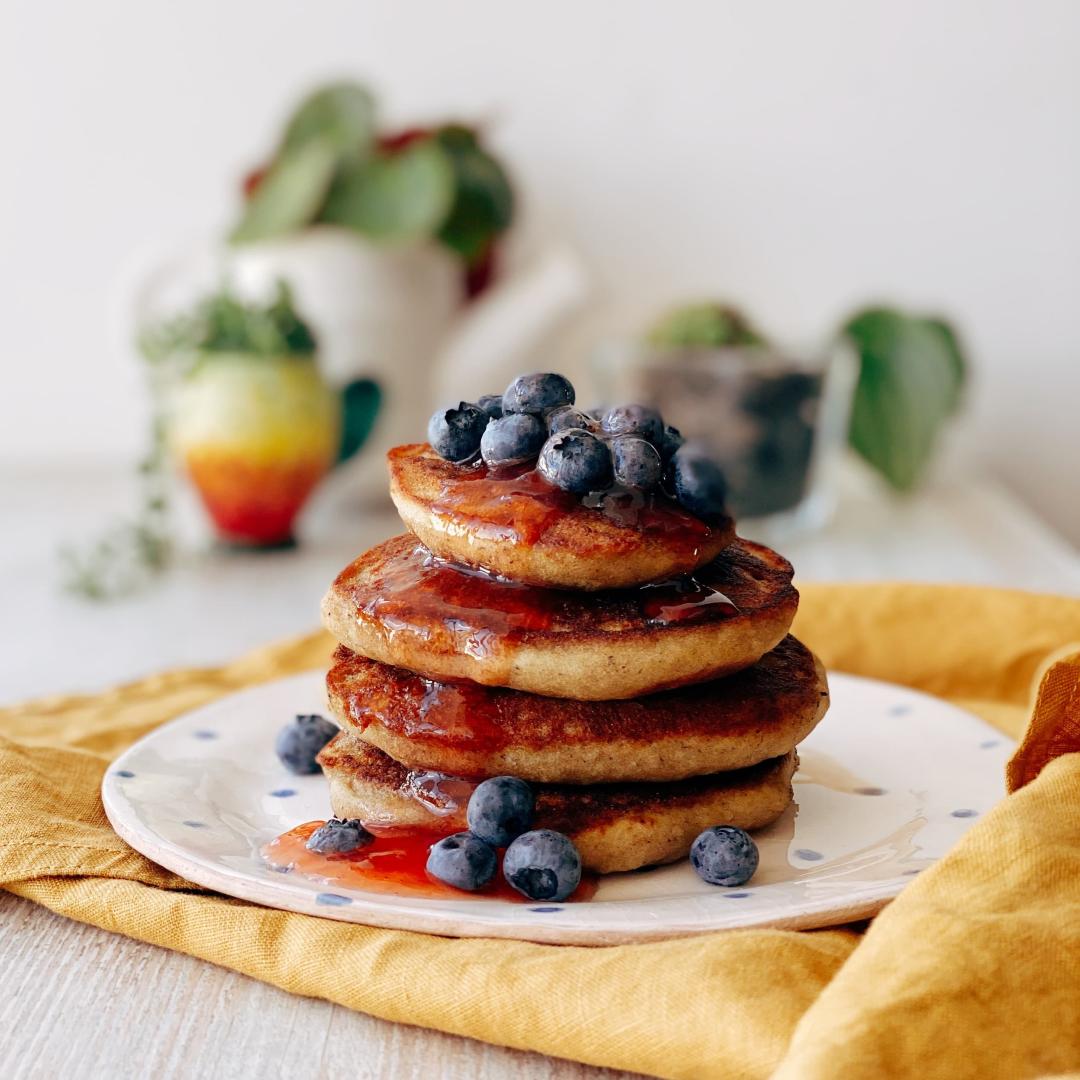 Make Laka's vegan protein pancakes